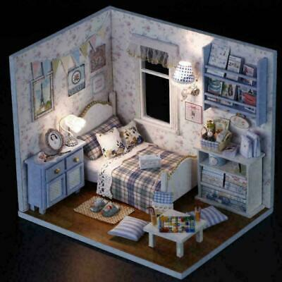 Sunshine Overflow-3D DIY Wooden DollHouse Handmade Mini Puzzle Furniture To Q7N2