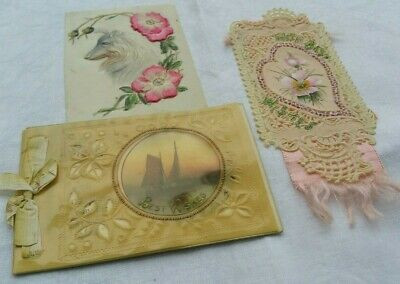 Antique Celluloid Cards Used