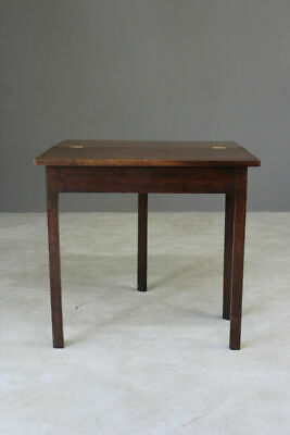 Antique Georgian Mahogany Tea Side End Bedside Occasional Lamp Table