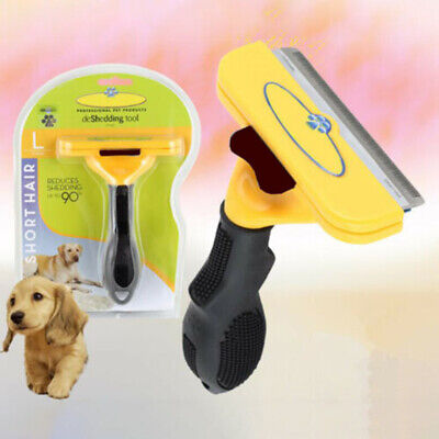 Deshedding  Dog Pet Cat Hair Shedding Trimmer Grooming Rake Comb Brush