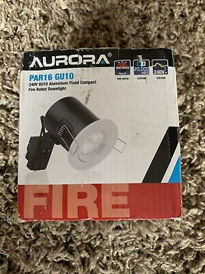 Aurora PAR16 GU10 Fire Rated White Finish Compact Downlight BNIB, 240v