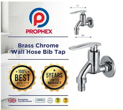Prophex Brass Chrome Wall Hose Bib Tap Suitable for Garden Kitchen Laundry NEW