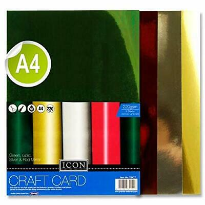 Premier Stationery Icon Mirror Craft Card. 220Gsm. Pack of 8, A4