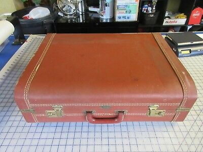 "Vintage Mid Century Modern Suitcase Luggage Vacationer Royal 24"" x 17"" x 8"" NICE"