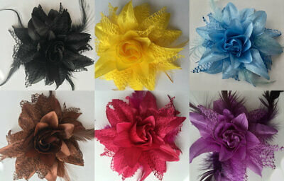 Feather Flower Beak Clip  Wedding Hair Accessories Size 14 cm