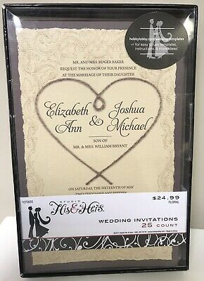 Wedding Invitations Hid Hers 50 Count From Hobby Lobby