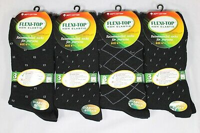 360 Pairs Mens Non Elastic Loose Top Cotton Black Suit Socks Size 6-11 Wholesale