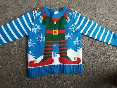 1 x Christmas Naughty Elf Deluxe Christmas Jumper Knitted Sweaters 5 Assorted