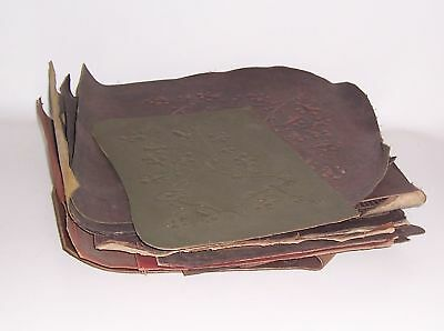 Convolute Leather Remains Seat Covers Backrest Cover or for Bookbinders Embossed