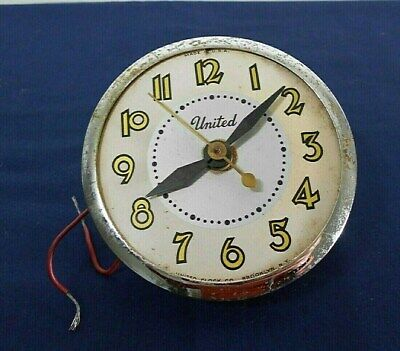 Vintage United Electric Clock Motor And Face