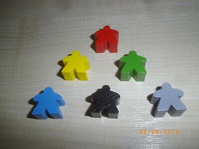 UK BASED 16mm x 10pc Wooden Meeples // Carcassonne Spares // Yellow Free P/&P
