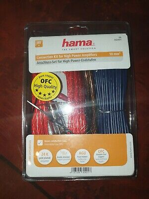Hama Power Kit, 10 mm², OFC 8AWG 8Guage Amplifier Wiring Kit Copper