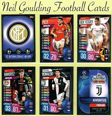 Champions League MATCH ATTAX 2019/2020 ☆ Football Cards ☆ #217 to #256 [UK]