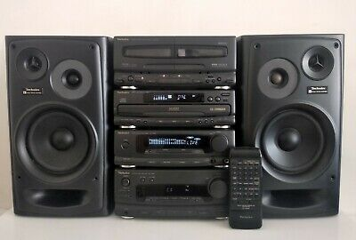 Technics Ch655 Hi-Fi Components System With Ch555 3Cd Changer/Speakers/Remote