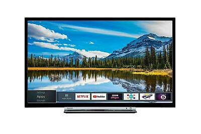 Toshiba 24W3863DB 24-Inch HD Ready Smart TV with Freeview Play - Black/Silver