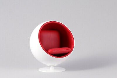 Mid century Modern Dollhouse Egg Chair By Reac 1:12 Scale Design Interior