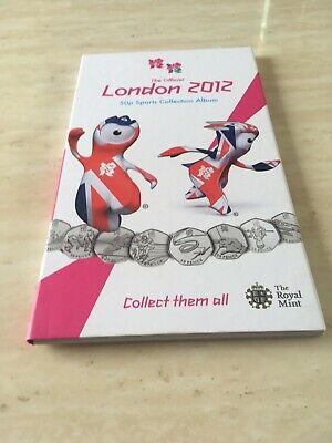 Olympic 50p full set London 2012 official royal mint Rare 1st Edition Album