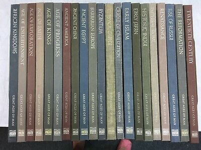 TIME-LIFE:  GREAT AGES OF MAN Complete 21 vol Set history -  HC/GC