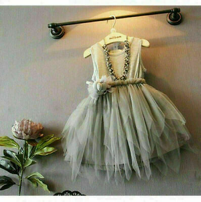Flower Girls Princess Dress Babys Party Wedding Pageant Formal Dresses Clothes