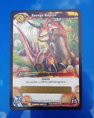 World of Warcraft WOW TCG Savage Raptor Loot Card NEW Unscratched