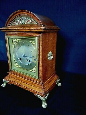 Antique Irish Striking Oak Bracket / Mantel Clock