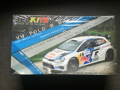 Volkswagen Polo R WRC 2016 Latvala Mikkelsen VW 1:24 Model Kit Belkits BEL011