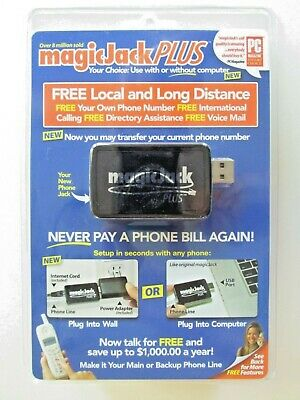 [NEW] magicJack PLUS - FREE LOCAL & LONG DISTANCE PHONE - NO COMPUTER MAGIC JACK