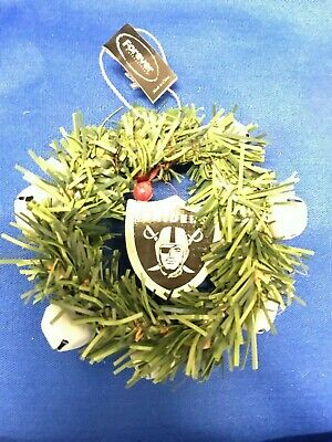 OAKLAND RAIDERS NFL Football WREATH ORNAMENT / CHRISTMAS TREE TOPPER
