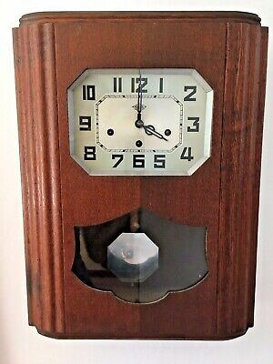 Antique Art Deco French Wall Clock by Girod