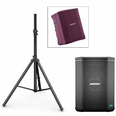 Bose S1 Pro PA System w/ Speaker Stand & Play-Through Cover - Night Orchid Red