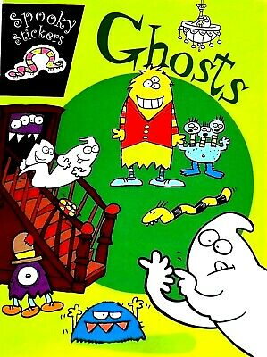 Ghosts, Spooky Stickers, Colouring, Puzzles, Mazes, Kids' Activity Book