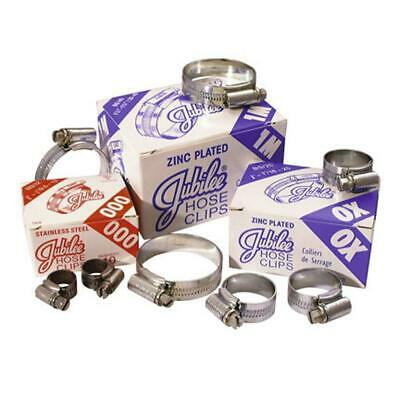 Genuine Jubilee Hose Clips / Clamps (Worm Drive) - Stainless Steel / Mild Steel