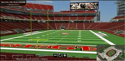 2 Tickets San Francisco 49ERS vs Los Angeles RAMS DATE TBD LOWER BOWL SEC 102
