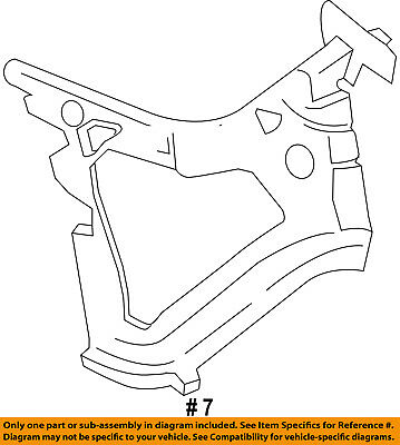 FORD OEM Rear Bumper-Bumper Mount Bracket Right 6L3Z17788B