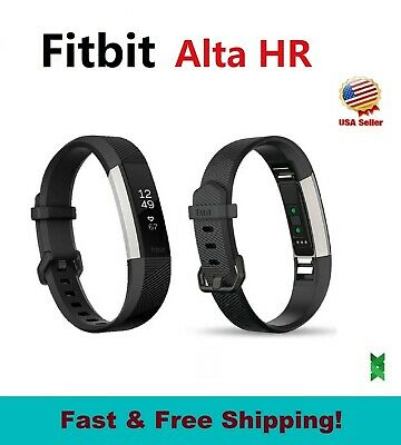 Fitbit Alta Smart Fitness Activity Tracker Small Large Leather Graphite Gray