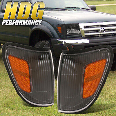 For 97 98 99 00 Tacoma Truck Direct Replacement Black Corner Lights Pair Lh/Rh