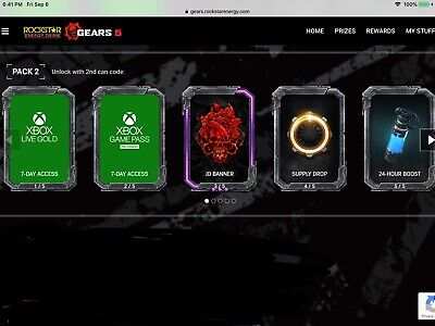 GEARS OF WAR 4 EXCLUSIVE ROCKSTAR Bounty GEAR PACKS, GEAR
