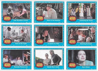 Star Wars - Journey to The Last Jedi - Blue - Card NEAR SET (97 of 110) NM