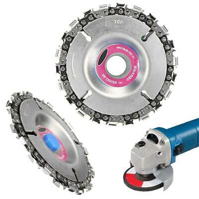 4''Angle Grinder Disc 22 Tooth Chain Saw For Wood Carving Culpting Plastic Tool