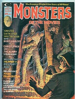 MONSTERS OF THE MOVIES #6 (APRIL 1975) / Marvel / The Mummy (Boris Karloff)