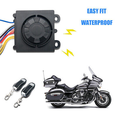 Motorcycle Motorbike Anti-theft Alarm System Immobiliser Security Remote Control