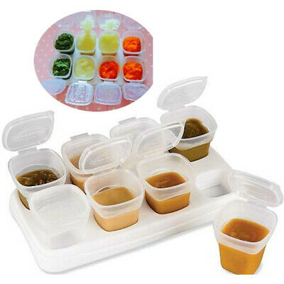 Baby Food Box Feeding Pot Gruel Storage Freezing Cube Kids 70ml Infant