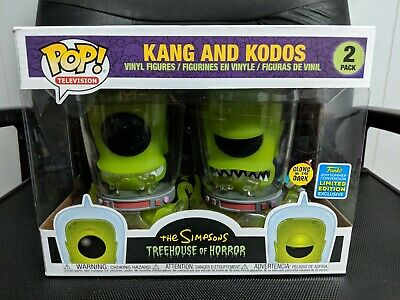Funko Pop! SDCC 2019 GITD Simpsons Treehouse of Horror Kang and Kodos 2 Pack