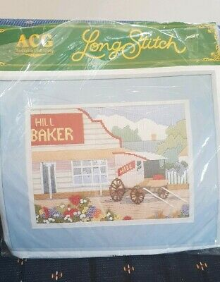 "Vintage *1989* ACG (Australian Craft Group) Long Stitch Kit ""The Bakery"" opened"