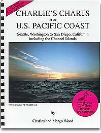 CHARLIE'S CHARTS OF U.S. PACIFIC COAST: SEATTLE, WASHINGTON, TO By Margo Wood VG