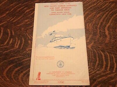 1969 Nautical Chart, New Haven, Conn. To Throgs Neck, New York