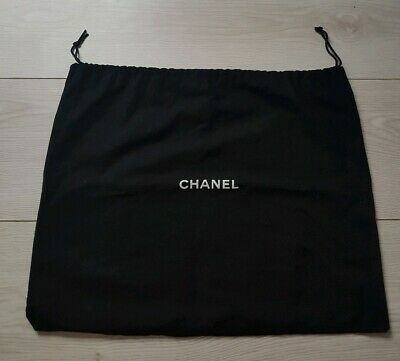 Chanel Black Drawstring Dust Bag Dustbag Storage Shoes Clutch Bags  Accessories
