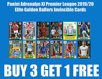 Panini Adrenalyn Xl Premier League 2019/20 Elite Golden Baller Diamond Hero Card
