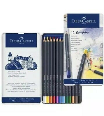 Faber Castell Goldfaber Colouring Pencils In Tin Set Of 12 Quality Art Pencils