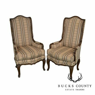 French Louis XV Style Vintage Custom Pair Host Chairs